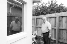 reflection portrait of an elder gentleman