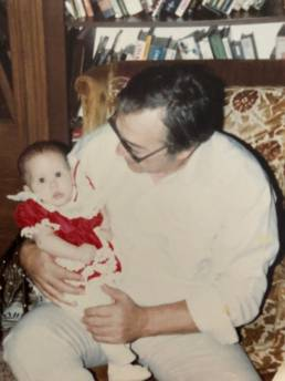Me and Papou in 1982