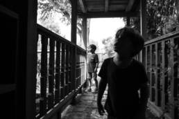 boys explore Tom Sawyer Island inside the Magic Kingdom