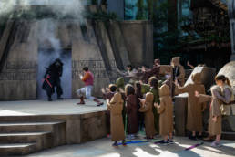 kids use the Force to put Kylo Ren back in the temple