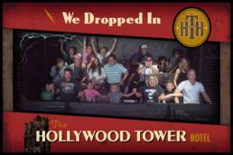 boy's first ride on Tower of Terror captured by Disney photo pass