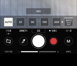 setting ISO on proShot app