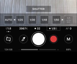 setting shutter speed in ProShot app