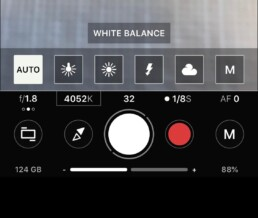 white balance setting for ProShot app