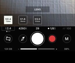 choose an aperture on ProShot app
