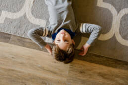 portrait of a boy on the floor