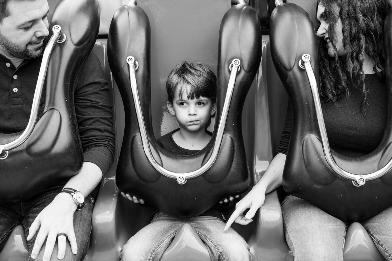 boy questions going on ride at seaworld