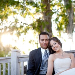 wedding portrait of Stephana and Charles Ferrell