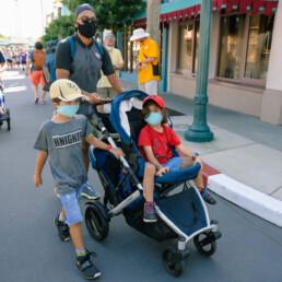 family walking into Disney's Hollywood Studios