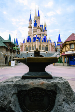 Sword in the Stone in front of the castle