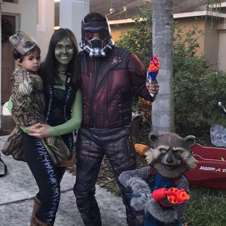 Ferrell family at Halloween