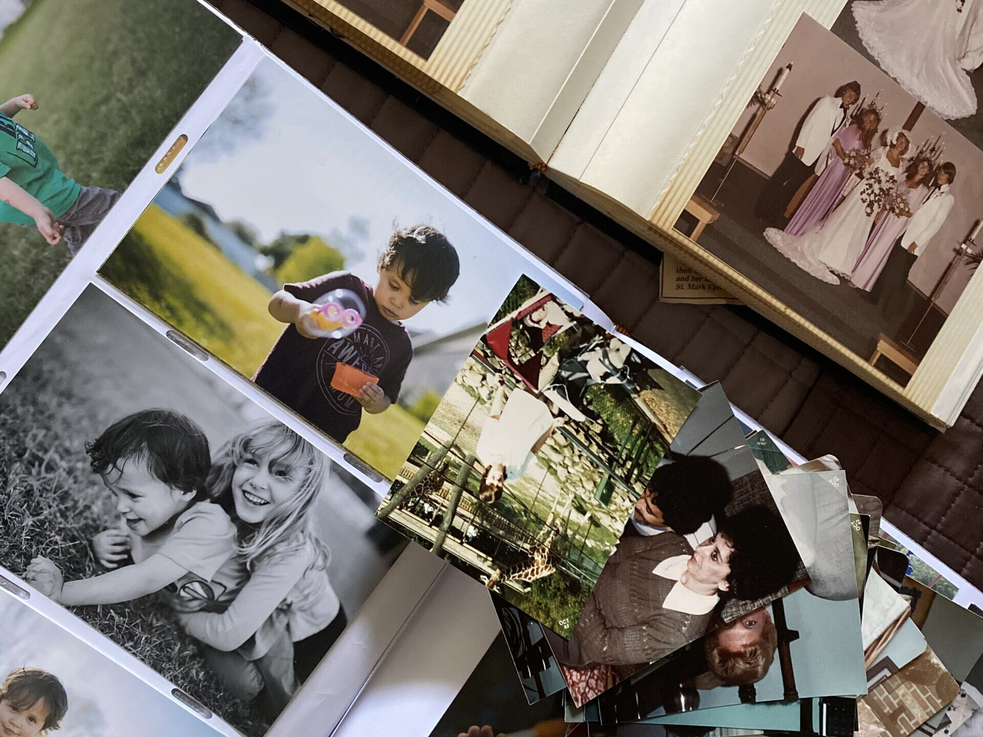 a second array of photos stored in different ways
